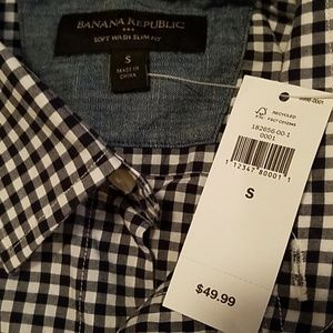 Banana Republic Soft Wash Slim Fit Shirt NWT